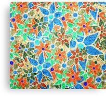 Trendy Floral Pattern Vintage Canvas Print