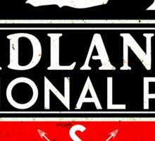 BADLANDS NATIONAL PARK SOUTH DAKOTA MOUNTAINS HIKING CAMPING HIKE CAMP 2 Sticker