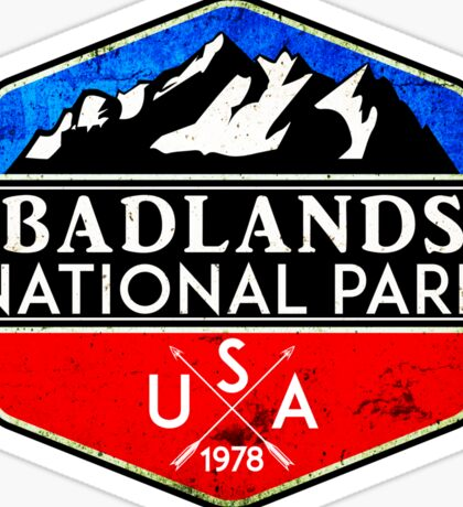 BADLANDS NATIONAL PARK SOUTH DAKOTA MOUNTAINS HIKING CAMPING HIKE CAMP 2 Sticker