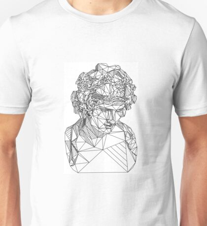 Geometric Greek statue Unisex T-Shirt
