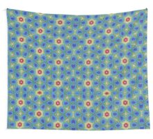 Round Flowers Pattern Wall Tapestry