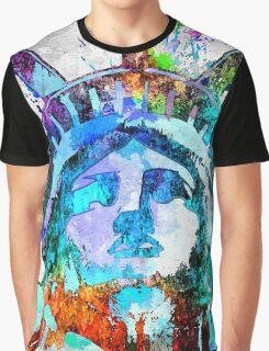 Statue of Liberty Grunge Graphic T-Shirt