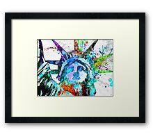 Statue of Liberty Grunge Framed Print