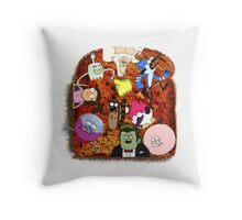 balanced breakfast Throw Pillow