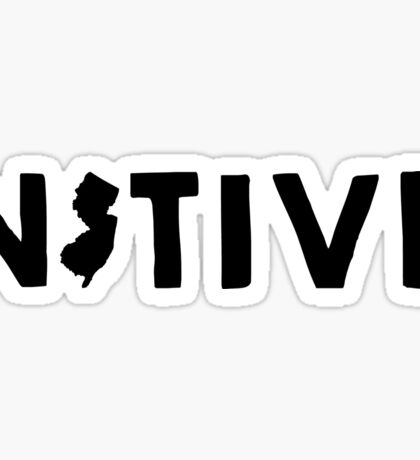 New Jersey Native NJ Sticker
