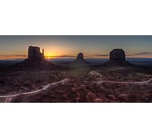 Dawn at Monument Valley Photographic Print