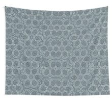 Silver Roses Pattern Wall Tapestry