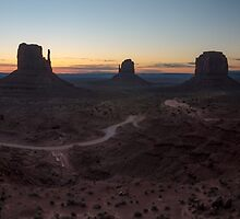 Monument Valley Dawn Panorama by TomGreenPhotos