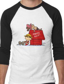 one piece snoopy Men's Baseball ¾ T-Shirt