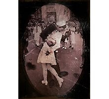 Kisses at the End of the War Photographic Print