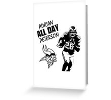 Adrian All Day Peterson - Minnesota Vikings - Running Back - NFL Greeting Card