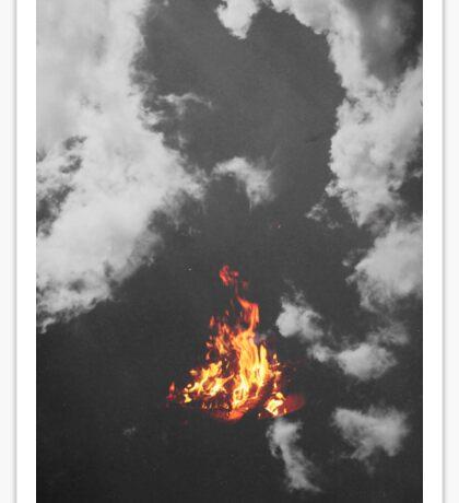 Fire in the Sky Sticker