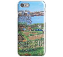 Allotments at Southampton beside River Itchen iPhone Case/Skin