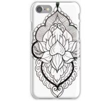 Mandala Tattoo Flash Black and White iPhone Case/Skin