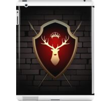 Deer Shield with Torches on the Wall iPad Case/Skin