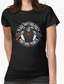 Black Panthro Party Womens Fitted T-Shirt