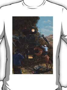 Monster Train attacking Cowboys T-Shirt