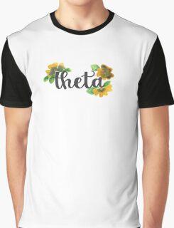 Kappa Alpha Theta Pansies Graphic T-Shirt