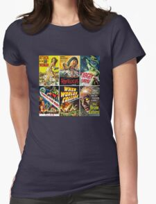 Vintage Sci-Fi Movie Poster Art Collection #1 Womens Fitted T-Shirt