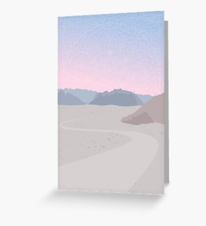 Burning Man Desert Sunset  Greeting Card