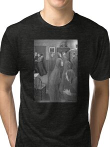 Long Arm Ghost – The Wind in the Rose-Bush (Freeman, Mary Eleanor Wilkins) Tri-blend T-Shirt