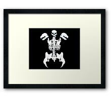 Vampire Abomination Skeleton Framed Print