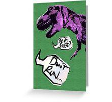 Lonley Dino Greeting Card
