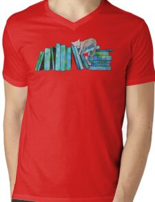Literary Naps Blue Mens V-Neck T-Shirt