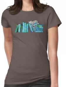 Literary Naps Blue Womens Fitted T-Shirt
