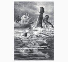 Blown Up Astronaut – Under the Waves (Ballantyne, Robert Michael) Kids Tee