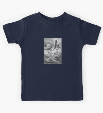 Blown Up Astronaut – Under the Waves (Ballantyne, Robert Michael) Kids Tee