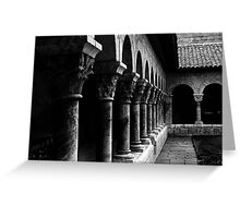 the cloisters Greeting Card