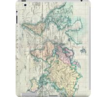Vintage Map of The World (1801) iPad Case/Skin