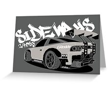 240sx sideways Greeting Card