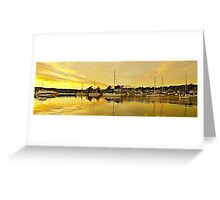 Golden Ocean Sunrise with Water Reflections. Greeting Card