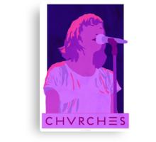 CHVRCHES Art - Neon Lauren Mayberry Canvas Print