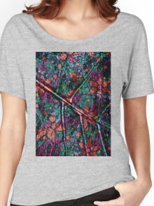 Vintage Trendy Floral Pattern Women's Relaxed Fit T-Shirt