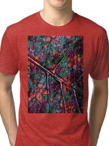 Vintage Trendy Floral Pattern Tri-blend T-Shirt