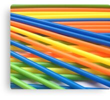 Coloured Sticks Canvas Print