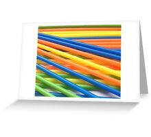 Coloured Sticks Greeting Card