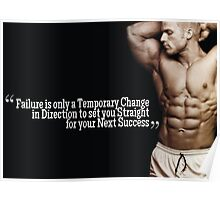 Failure Is Only A Temporary Change Poster