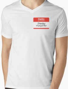 Hello my name is Stanley (Employee 427) Mens V-Neck T-Shirt
