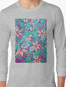 Vintage Trendy Floral Pattern Long Sleeve T-Shirt