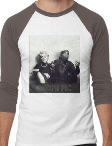 monroe dope  Men's Baseball ¾ T-Shirt