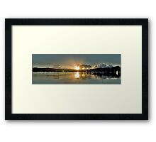 Dazzeling Dawn.Ocean Sunrise with Water Reflections Framed Print