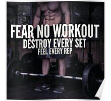 Fear No Workout, Destroy Every Set Poster