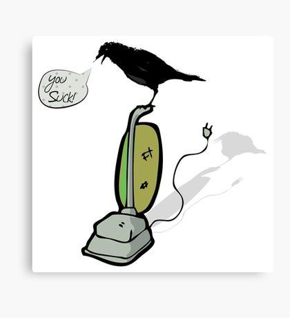 Angry Crow Canvas Print