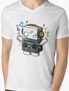 robo beat box Mens V-Neck T-Shirt