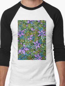 Vintage Trendy Floral Pattern Men's Baseball ¾ T-Shirt