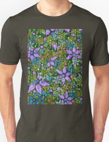 Vintage Trendy Floral Pattern Unisex T-Shirt